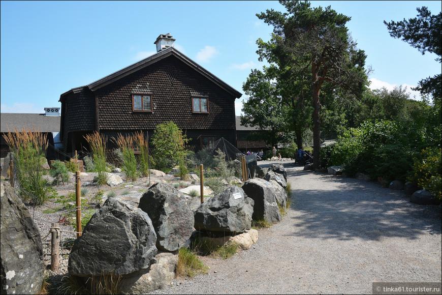 Чешуйчатые домики тоже характерны для Швеции.