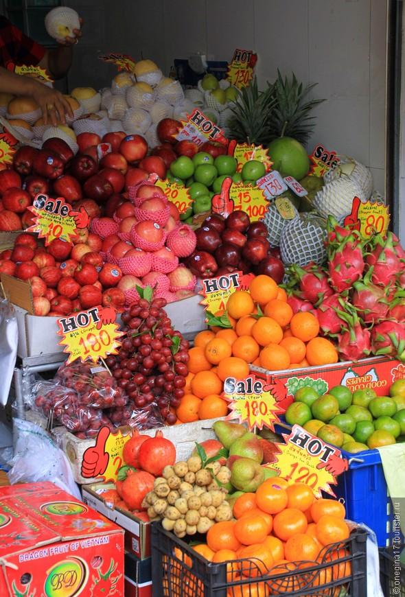 Цены на фрукты. Фрукты все отменные!