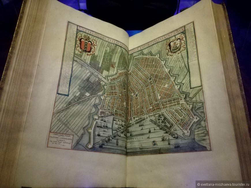 Карта Амстердама 17 века.