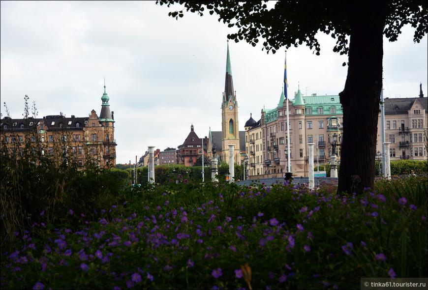 Вид на Эстермальм со стороны Юргордена.