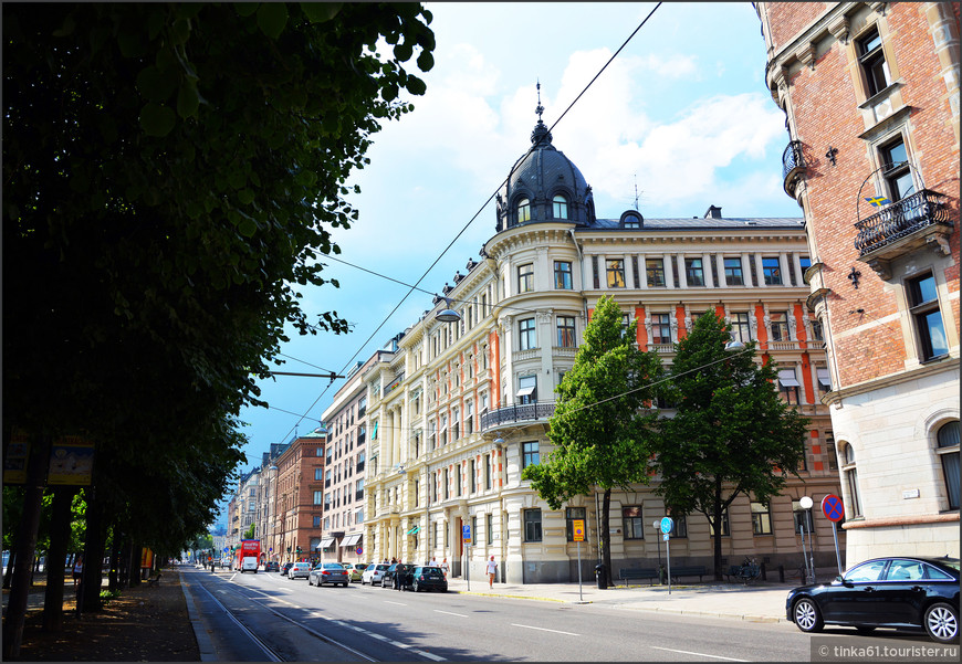 На бульваре Страндвеген.
