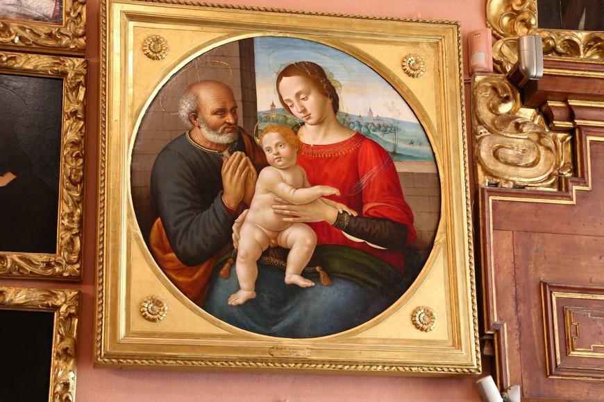 """Картина """"Святое семейство"""" Марко д'Оджоне, ученика Леонардо др Винчи, известного более копиями работ своего учителя."""