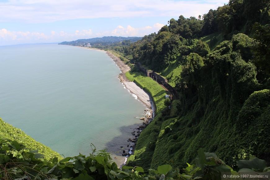Вид со смотровой площадки – пляжи Зеленого мыса