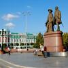 Екатеринбург. Памятник основателям города - Татищеву и де Геннину .