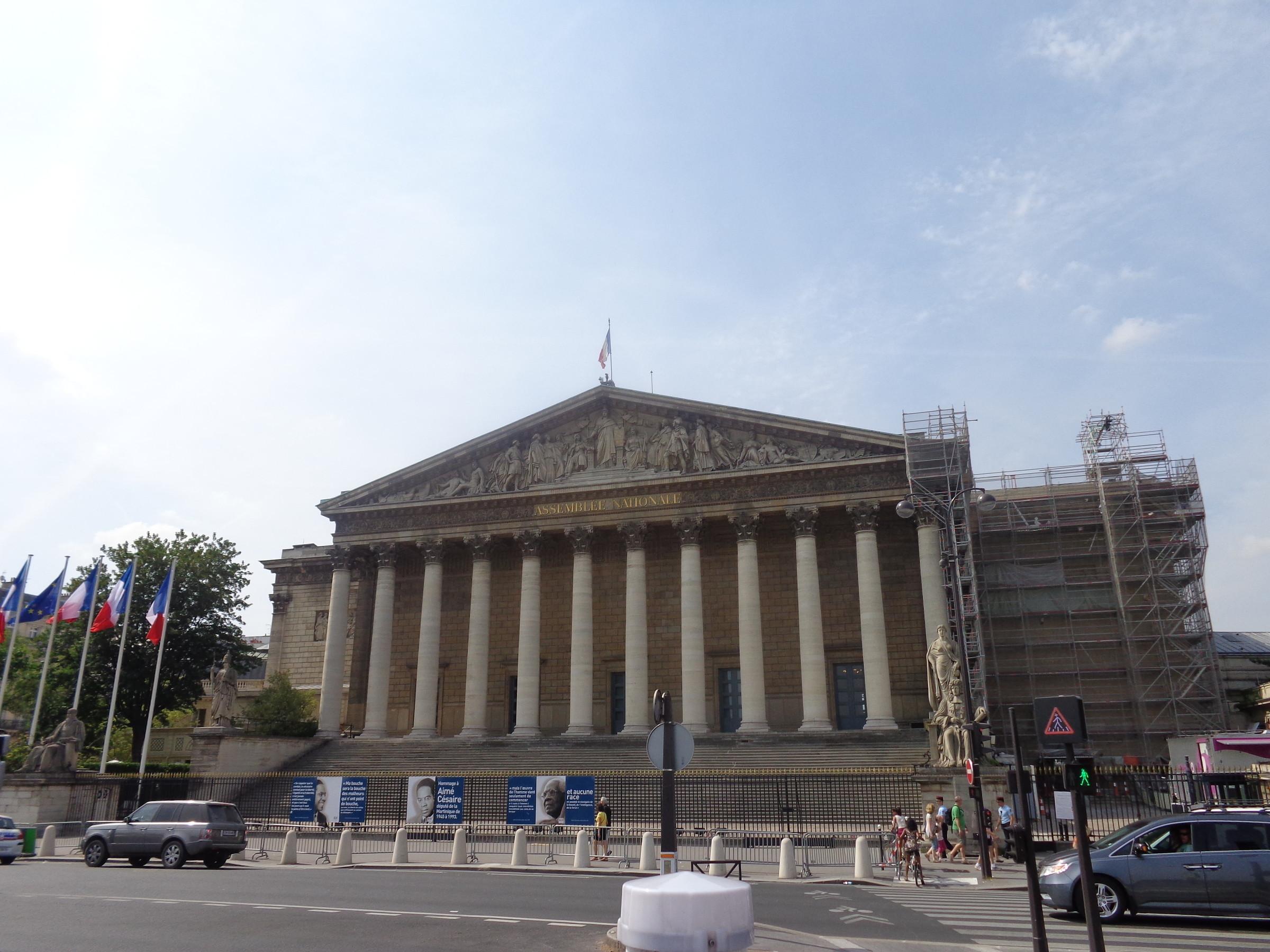 Бурбонский дворец - место заседаний Национальной ассамблеи., Париж