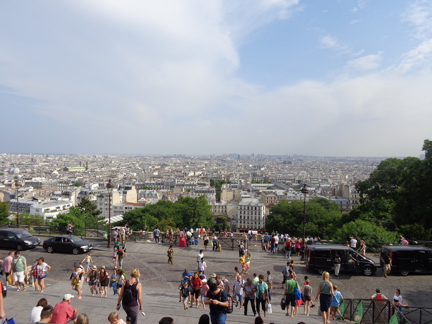 Вид на Париж с Монмартра.
