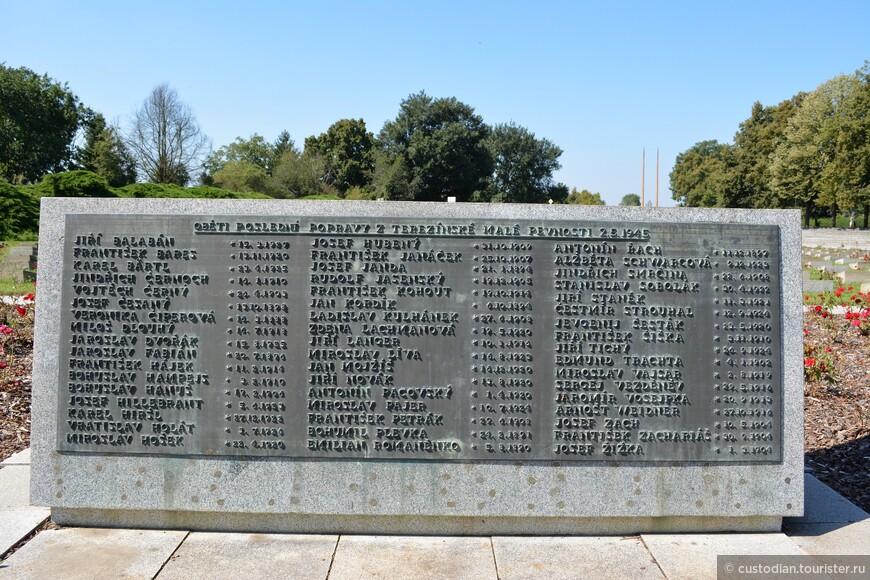 Дата смерти одна - 02.05.1945. В тот день состоялась самая массовая казнь - были расстреляны 52 человека.
