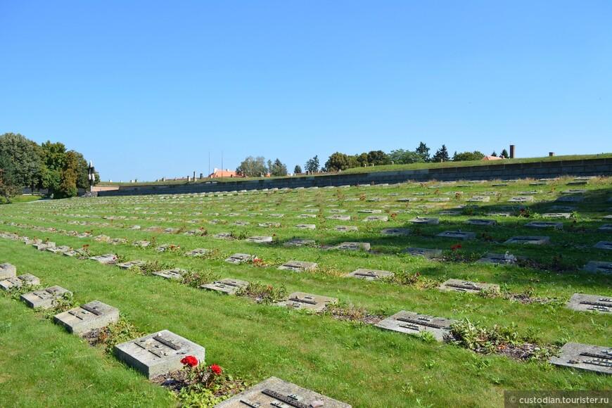 На кладбище были захоронены останки почти 10000 жертв. Останки 2386 из них были захоронены в индивидуальных могилах.