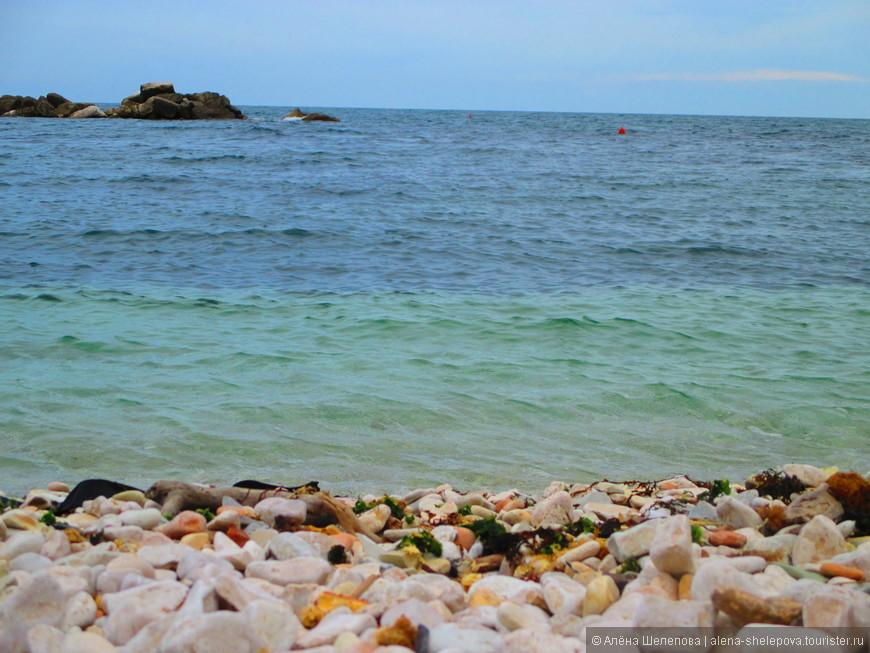 Когда мы собирались в поездку в Италию летом, конечно, нас грела мысль о купании в теплых водах итальянских морей. Но реальность оказалось сурова - погода была прохладной, а вода в Адриатическом море холодной, нет, я бы даже сказала- ледяной. Купаться я не решилась, хотя очень хотелось- голубая вода манила - чистая, прозрачная, с белой галькой на дне, так остро впивающейся в ваши ноги, что хочется визжать от восторга. На пляже было немноголюдно, но пара человек все же рискнули искупаться. Я же с гордостью могу заявить, что мне довелось помочить ступни в Адриатическом море.