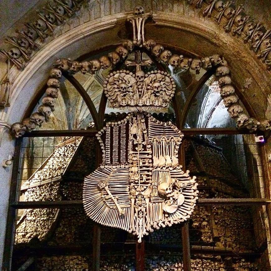 Костница в Седлеце, близ Кутной Горы, известна во многих стран мира. Герб рода Шварценбергов.