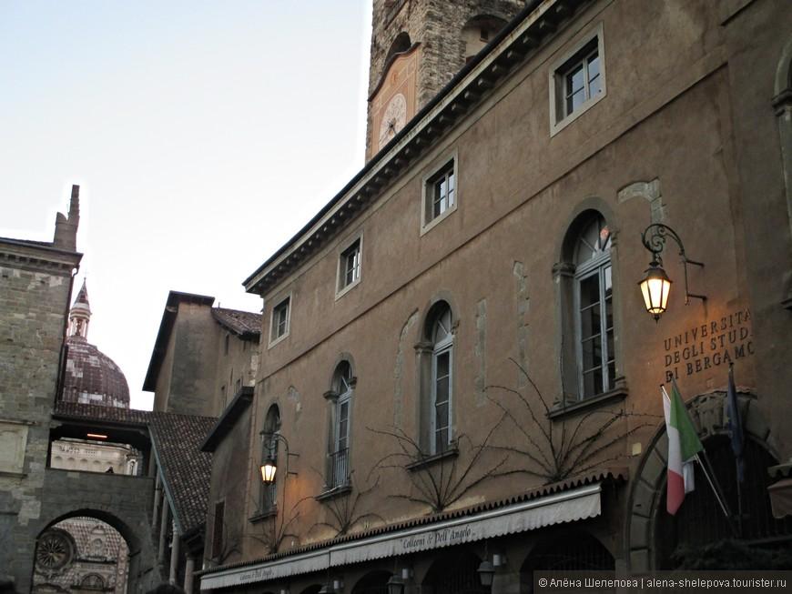 Погуляв на верхней точке Бергамо, мы снова вернулись в старый город. Уже вечерело