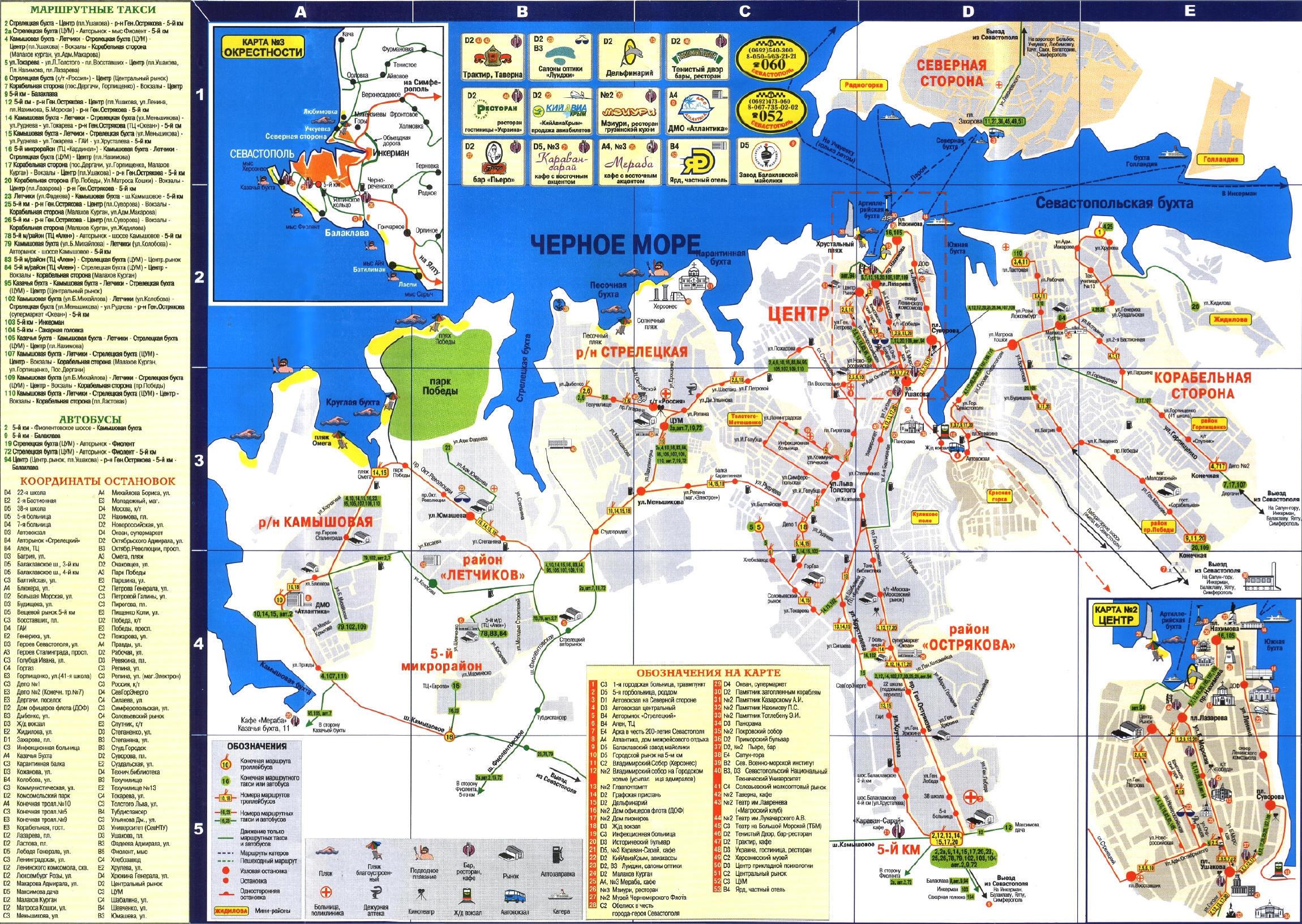 схема города севастополя