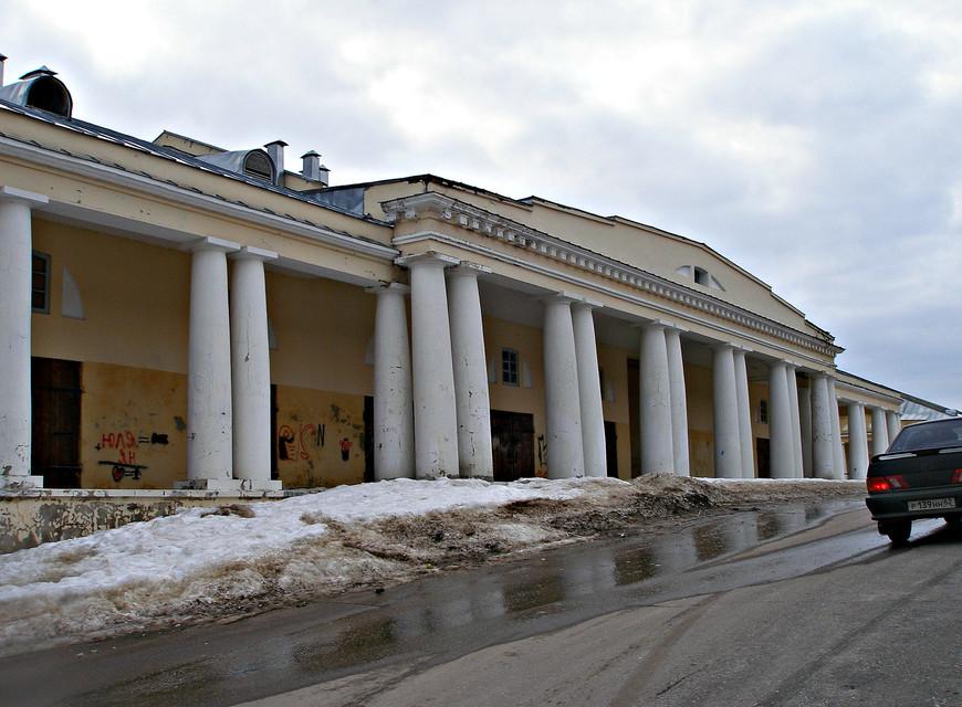 Здание торговых рядов.