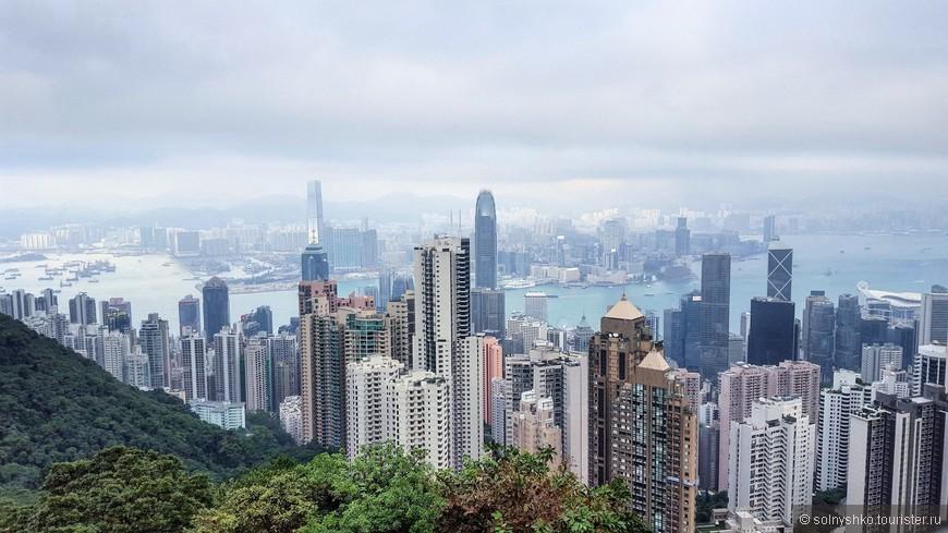 Симбиоз природы и современной архитектуры - фишка Гонконга. Не по фэншую проектировалось только здание банка Китая ( в правой части фото, с белыми перекрестиями).