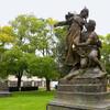 Тайны Праги - Вышеград. Скульптурные группы с Палацкого моста после Второй мировой войны разместились на Вышеграде. Экскурсии с частным индивидуальным гидом по Праге.