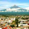 Вид на вулкан Попокатепетль из г. Пуэбла