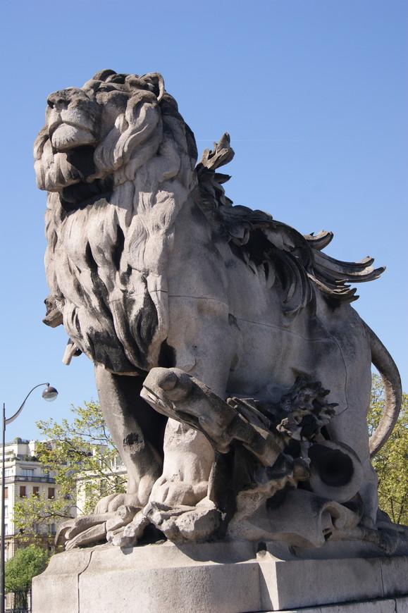 Гордые и суровые парижские львы