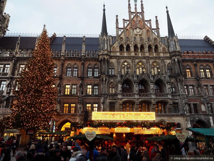 Большая рождественская ярмарка на Мариенплац