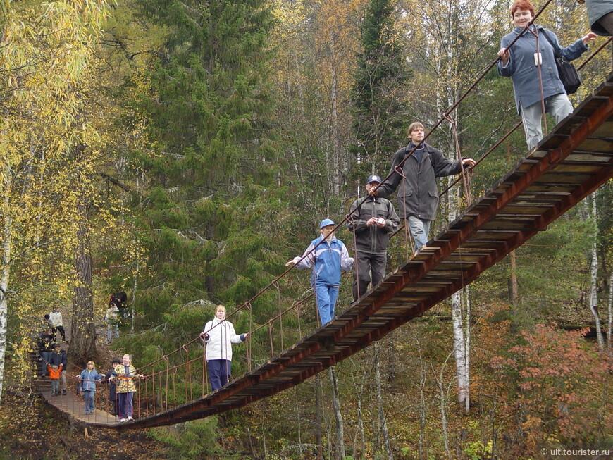 Мост в природном парке Оленьи ручьи
