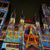 Руанский готичский собор в период спектаклей света
