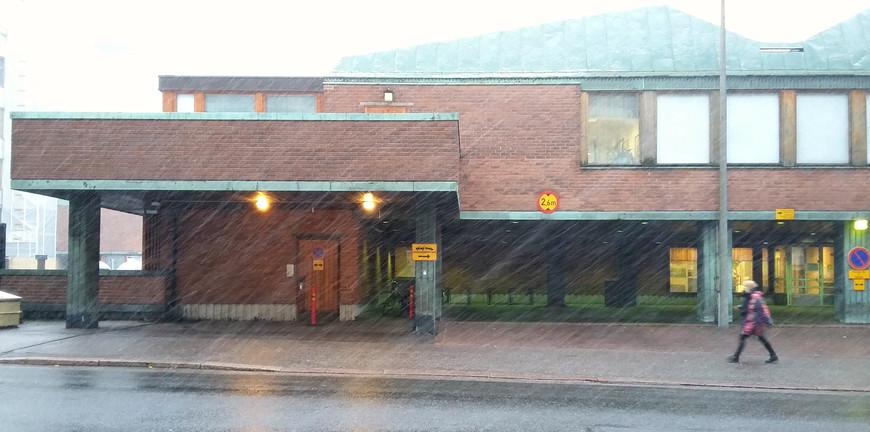 У финской природы нет плохой погоды... По дороге к Олимпийскому стадиону.