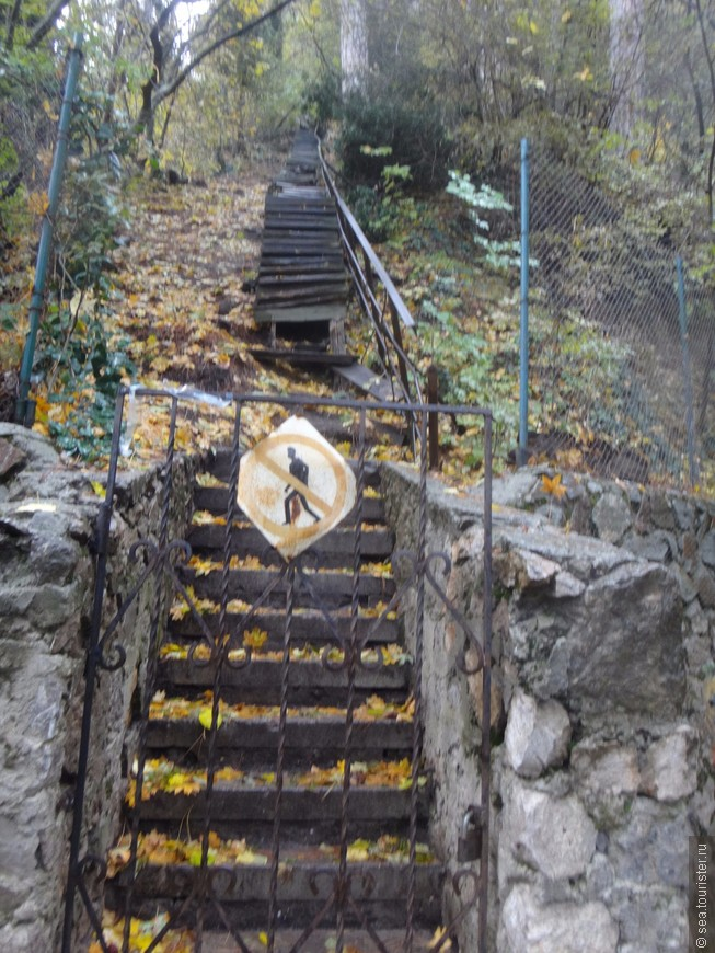 А вот это лестница к подножию водопада.