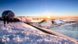 На Гавайях выпало рекордное количество снега