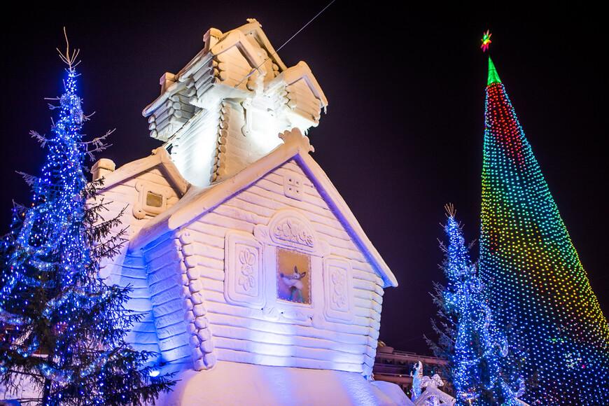 Тема ледового городка 2016 года очень хорошая и правильная - русские народные сказки.