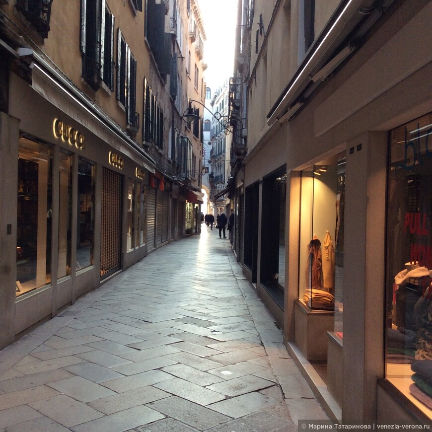 Зимний образ Венеции.