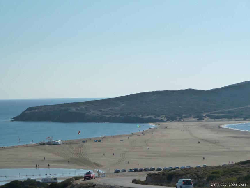 Прасониси. Песчанный перешеек между двумя морями Средиземным и Эгейским на юге острова Родос. От одного моря до другого - три минуты пешком.