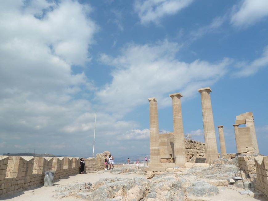 Акрополь Линдос. Здесь был храм Афродиты.