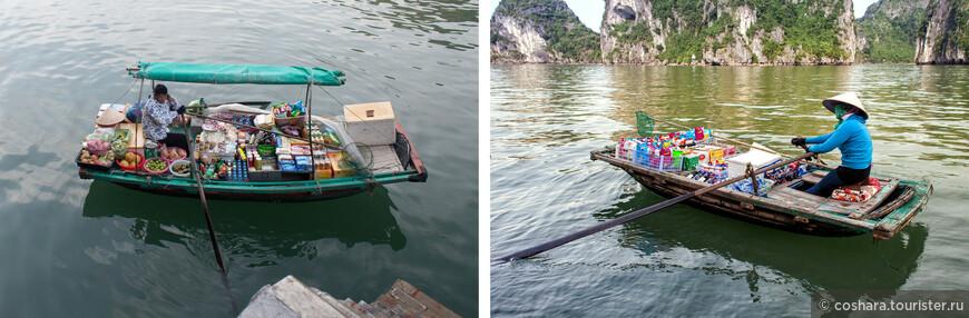 Время от времени к нам подплывали вот такие магазинчики. Так местные, живущие в бухте в плавучих деревнях, зарабатывают себе на жизнь.