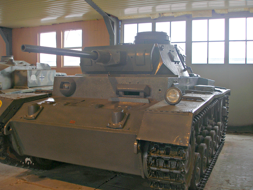 Средний немецкий танк Pz.Kpfw III (1940 г.).