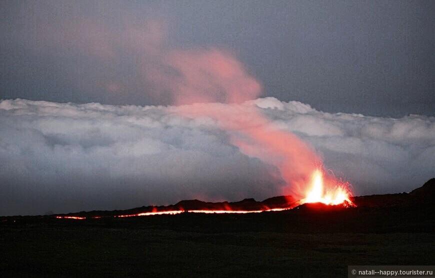 Последнее извержение вулкана Питон де ла Фурнез, сентябрь 2016