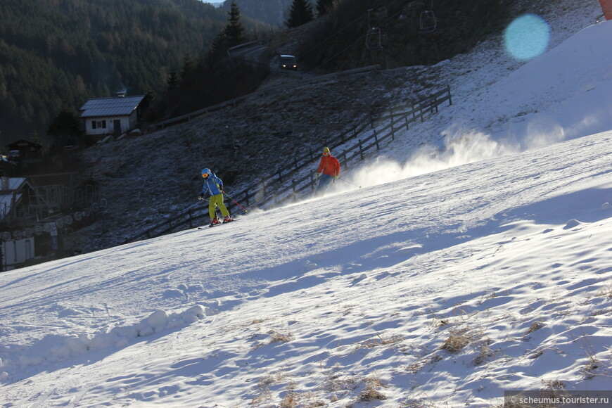 Для начала сезона условия для лыжников уже приличные