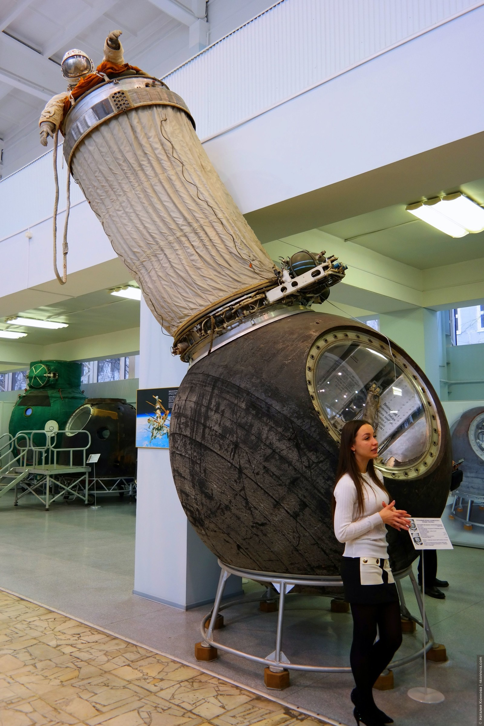 Многоместный аппарат «Восход-2», из которого впервые в мире космонавт А. А. Леонов осуществил выход в открытый космос (не без приключений)., Музей РКК «Энергия» им. Королева