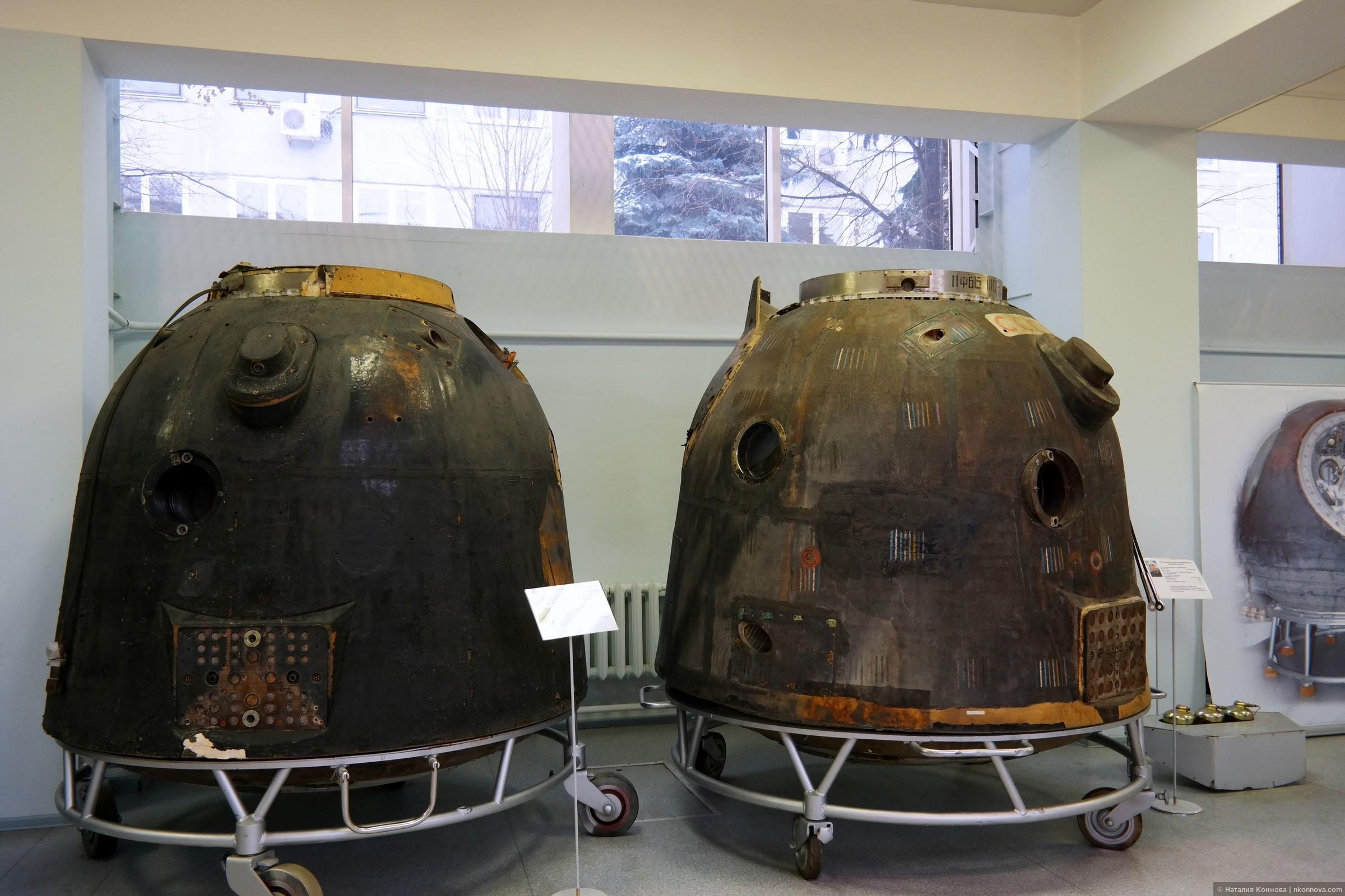 Современные спускаемые модули (как видите, форма изменилась)., Музей РКК «Энергия» им. Королева