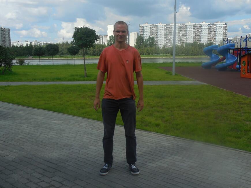 Братеевский каскадный парк, Москва-река и детская площадка