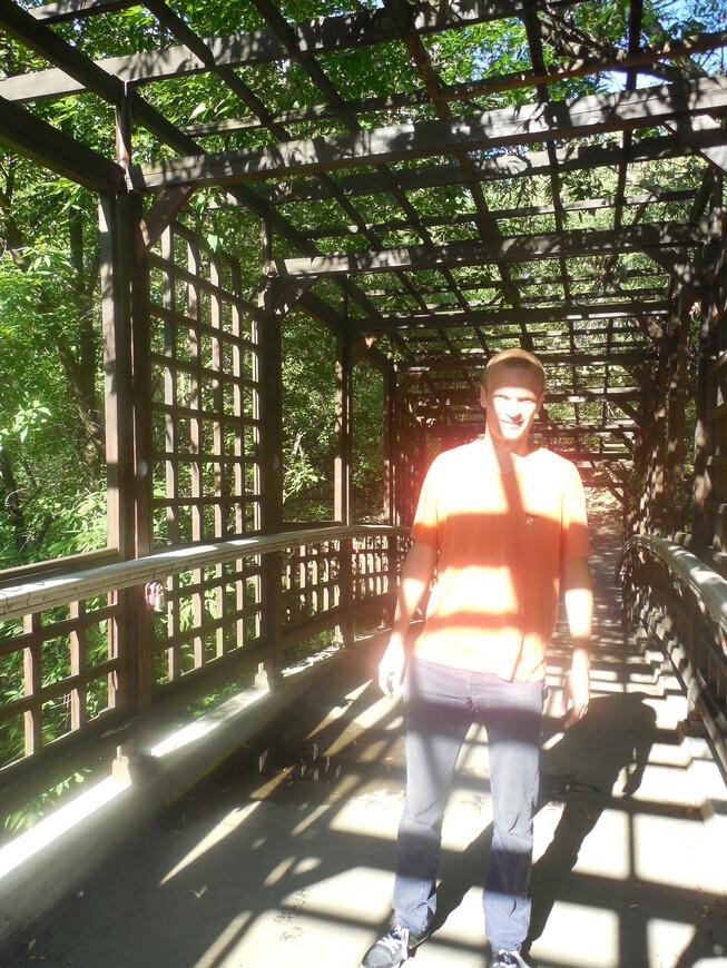 Парк «Отрада»: мостик через реку Лихоборка