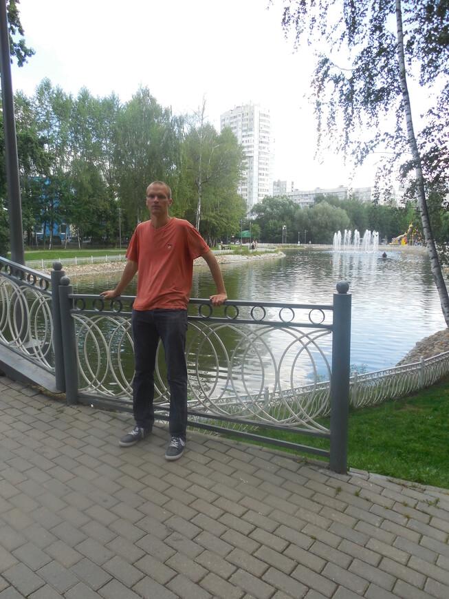 Лианозовский парк: Лианозовские пруды - декоративный мостик и фонтан