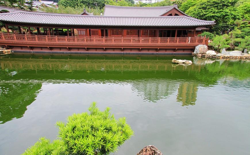 Павильоны очень деликатно вписаны в природу и не нарушают гармонии. Чайный домик - идеальное место для чайной церемонии. Здесь можно и отведать что-нибудь посытнее.