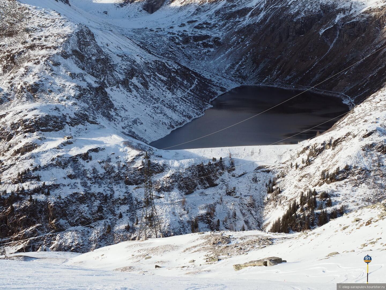 Не замерзшее озеро на 1500 м, Австрийский Бад-Гаштайн, открытие сезона