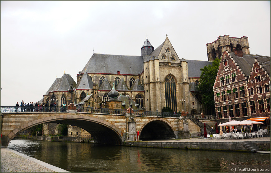 Мост Святого Михаила в Генте.