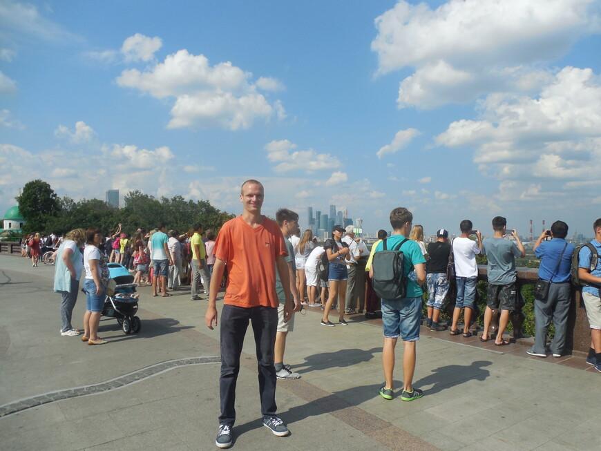 Воробьёвы горы: смотровая площадка - вид на ММДЦ «Москва-Сити»