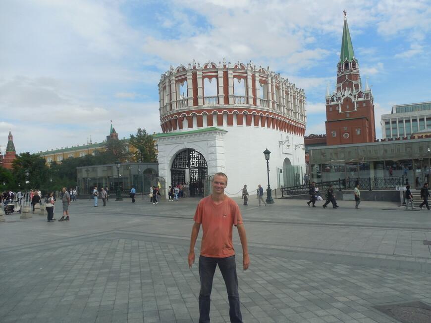 Кутафья башня, Троицкая башня и контрольно-пропускной пункт на территорию Московского кремля