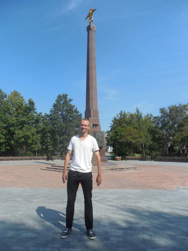 Устьинский сквер: памятник пограничникам Отечества