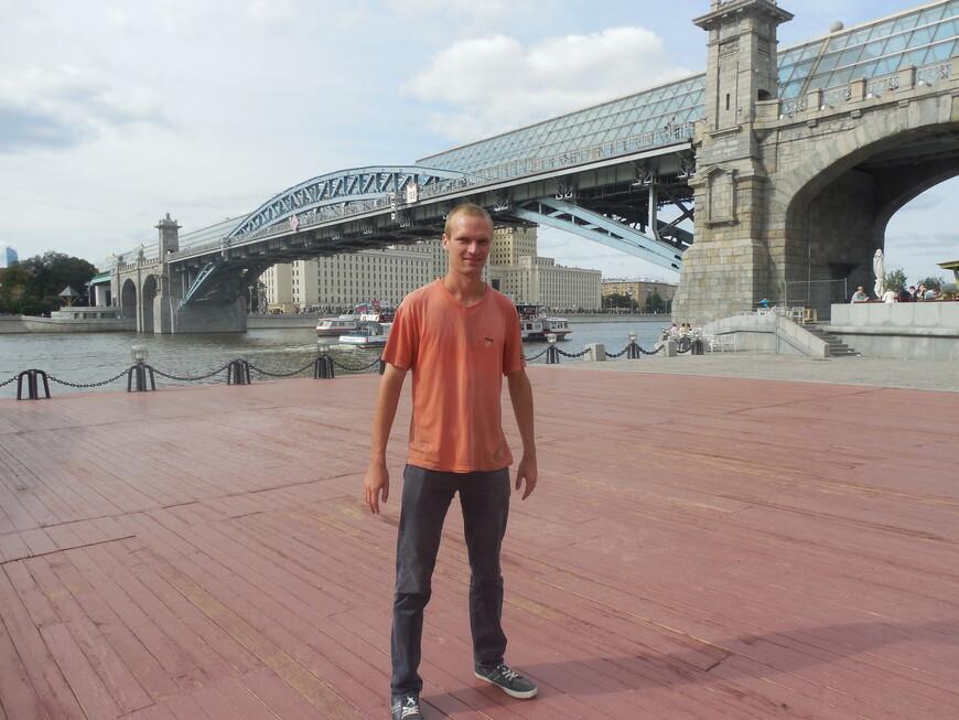 Пушкинский (Андреевский) мост, танцплощадка и Москва-река