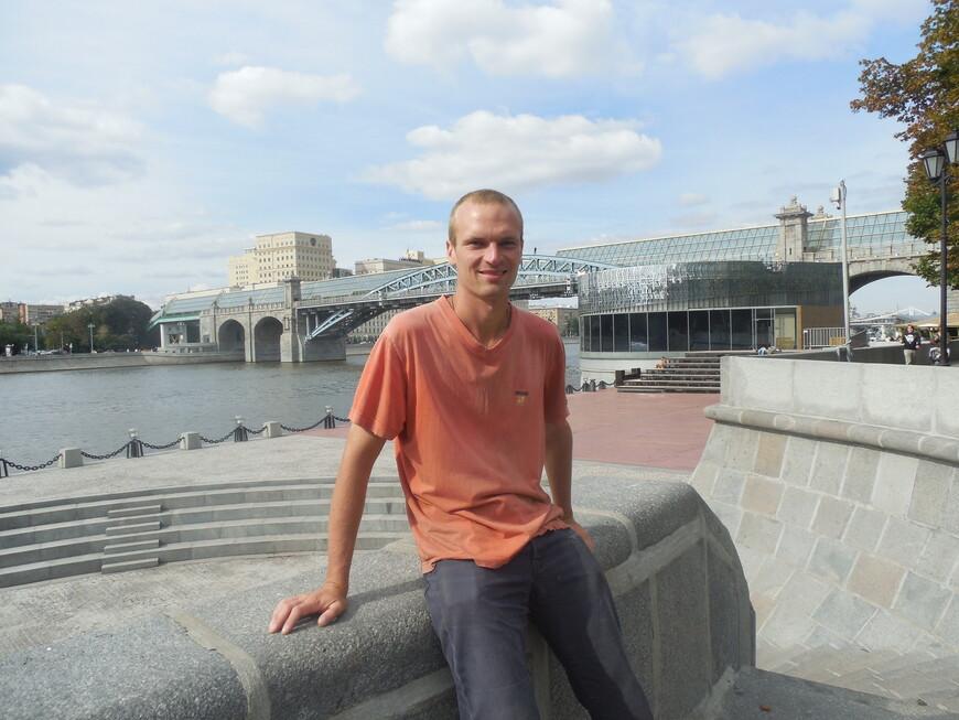 Пушкинская набережная, Пушкинский (Андреевский) мост, танцплощадка и Москва-река