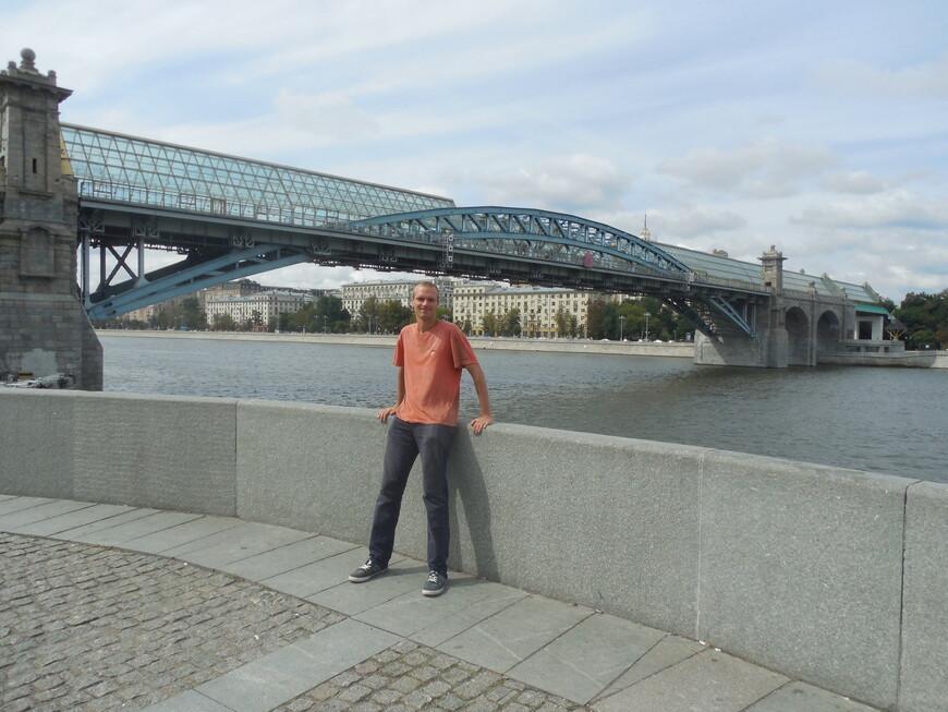 Пушкинский (Андреевский) мост и Москва-река