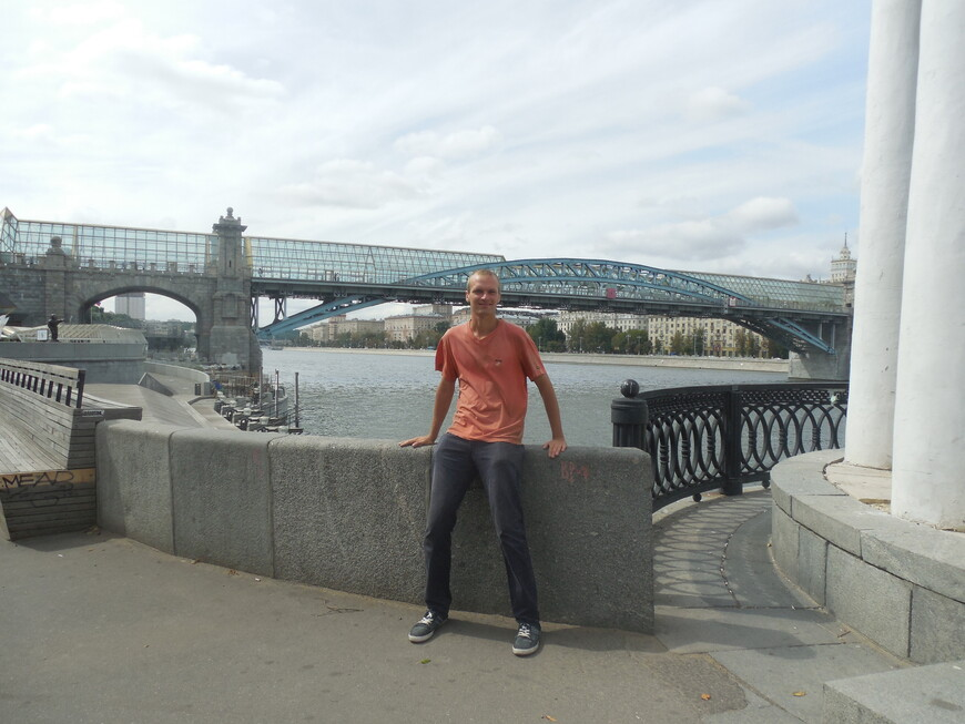 Пушкинская набережная, Пушкинский (Андреевский) мост и Москва-река